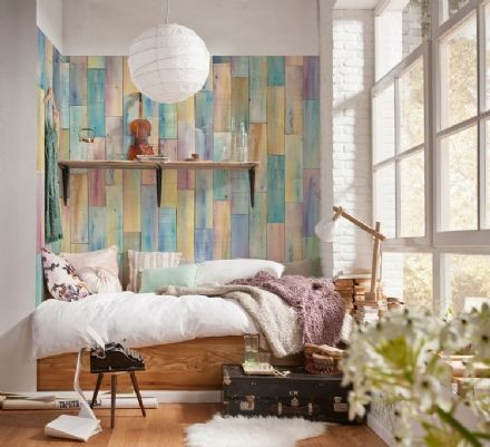 Non-woven wallpaper colorful boards